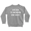 Kids Chicago To Michigan And Back Kids Pullover The T-Shirt Deli, Co. 2T
