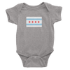 Chicago Flag onesie Heather Grey