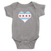 Babies Chicago Flag Heart Babies The T-Shirt Deli, Co. Heather Grey