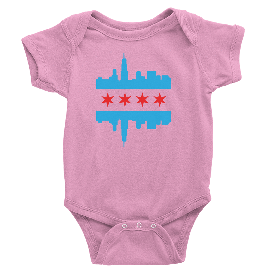 Babies Chicago Skyline Flag
