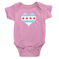 Babies Chicago Flag Heart Babies The T-Shirt Deli, Co. Pink