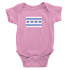 Pink onesie with Cubs Madden Flag logo