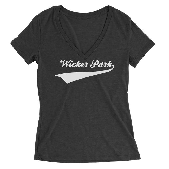 Womens Wicker Park Womens V-Neck The T-Shirt Deli, Co. 2 EXTRA LARGE