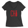 Womens Chi Cup Womens V-Neck The T-Shirt Deli, Co. 2 EXTRA LARGE