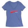 Womens Bucktown Stars Womens V-Neck The T-Shirt Deli, Co. 2 EXTRA LARGE