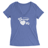 Womens Someone In Chicago Heart's Me Womens V-Neck The T-Shirt Deli, Co. MEDIUM