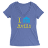 Womens Aville Womens V-Neck The T-Shirt Deli, Co. MEDIUM