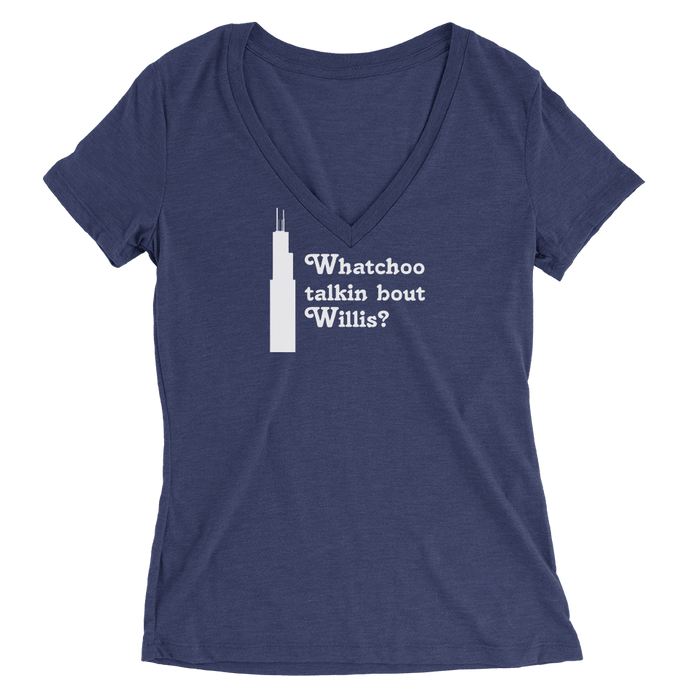 Womens Willis Womens V-Neck The T-Shirt Deli, Co. SMALL