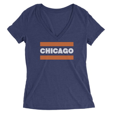 Womens Ditka Bears Chicago Sweater Womens V-Neck The T-Shirt Deli, Co. SMALL