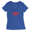 Womens Chicago Skyline Love Womens V-Neck The T-Shirt Deli, Co. SMALL