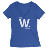 Womens Cubs Address Womens V-Neck The T-Shirt Deli, Co. SMALL