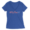 Womens #FlyTheW Womens V-Neck The T-Shirt Deli, Co. SMALL