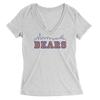 Womens Bears Skyline Womens V-Neck The T-Shirt Deli, Co. SMALL