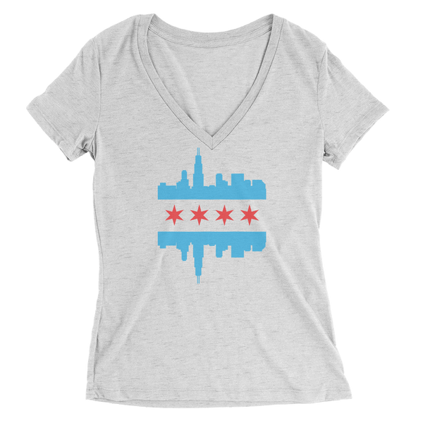 Womens Chicago Skyline Flag