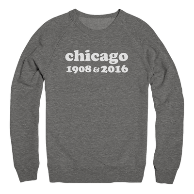 Mens/Unisex Chicago 1908 & 2016 Mens Pullover The T-Shirt Deli, Co. 2 EXTRA LARGE