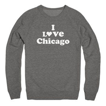 Mens/Unisex I Love Chicago Mens Pullover The T-Shirt Deli, Co. 2 EXTRA LARGE