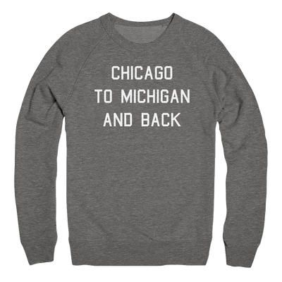 Mens/Unisex Chicago To Michigan And Back Mens Pullover The T-Shirt Deli, Co. 2 EXTRA LARGE