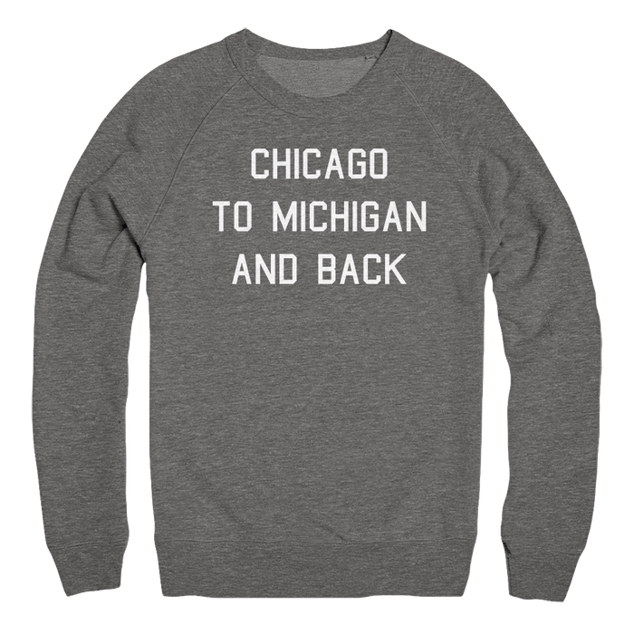 Mens/Unisex Chicago To Michigan And Back