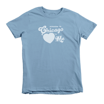 Kids Somebody In Chicago Heart's Me Kids Crew The T-Shirt Deli, Co. 6T
