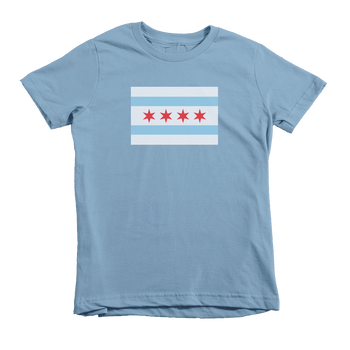 Kids Chicago Flag Kids Crew The T-Shirt Deli, Co. Baby Blue 6T