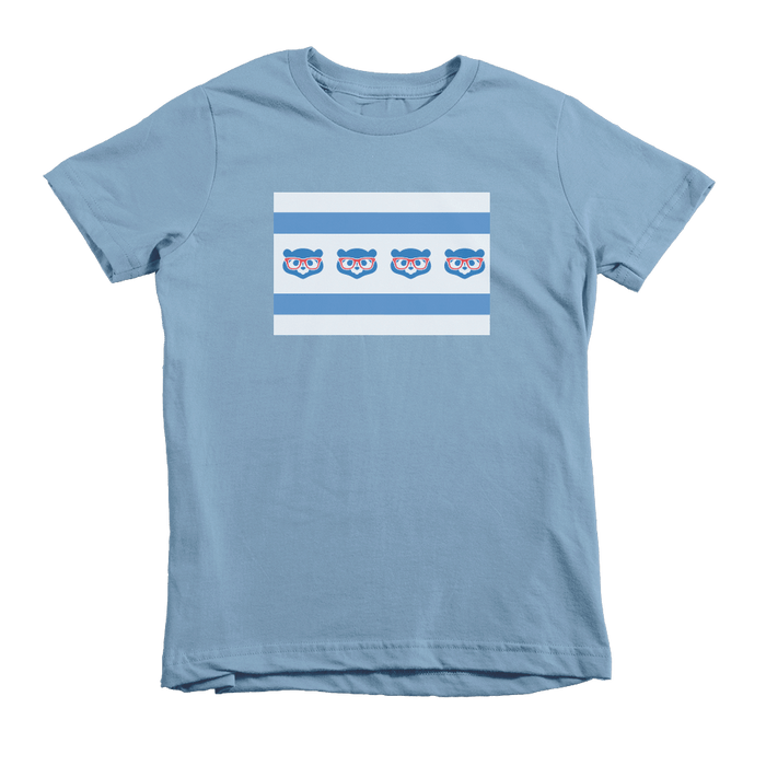 Kids Chicago Cubs Flag Kids Crew The T-Shirt Deli, Co. 2T