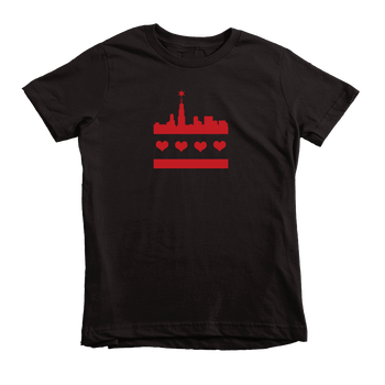 Kids Festive Chicago Flag Kids Crew The T-Shirt Deli, Co. 2T