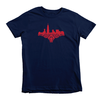 Kids Chicago Skyline Love Kids Crew The T-Shirt Deli, Co. 4T