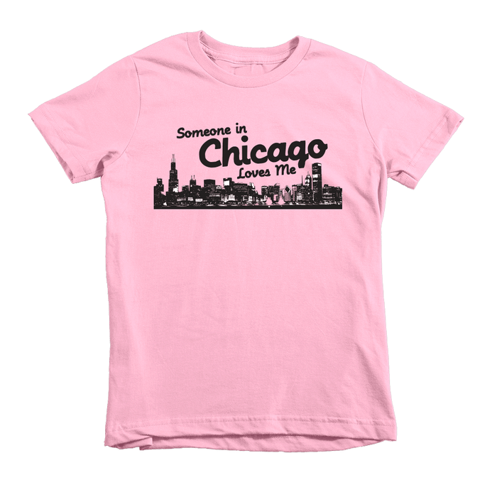 Kids Someone In Chicago Loves Me Kids Crew The T-Shirt Deli, Co. Pink 6T