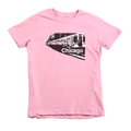 Kids Chicago Train Kids Crew The T-Shirt Deli, Co. Pink 6T
