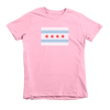 Kids Chicago Flag Kids Crew The T-Shirt Deli, Co. Pink 6T