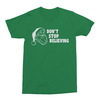Don't Stop Believing Mens Crew The T-Shirt Deli, Co. S