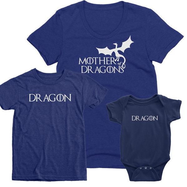 Mother and her dragons t-shirts