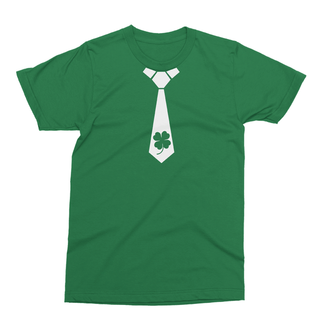 Shamrock Tie St. Patrick's Day The T-Shirt Deli, Co. 2 EXTRA LARGE