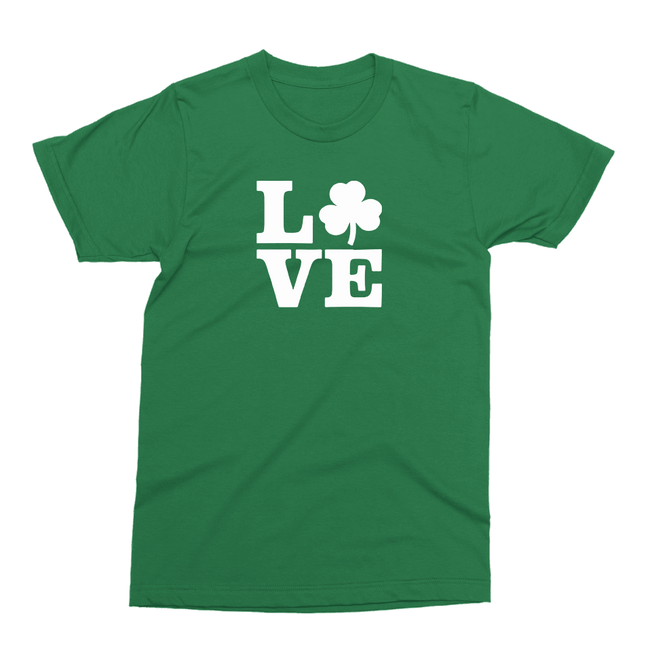 Love Shamrock St. Patrick's Day The T-Shirt Deli, Co. 2 EXTRA LARGE