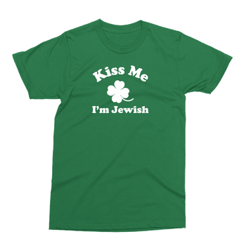 Kiss Me I'm Jewish St. Patrick's Day The T-Shirt Deli, Co. 2 EXTRA LARGE