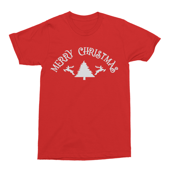 Merry Christmas Mens Crew The T-Shirt Deli, Co. S