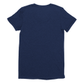 Womens Navy Custom T-Shirt Back