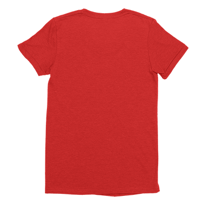 Womens Red Custom T-Shirt Back