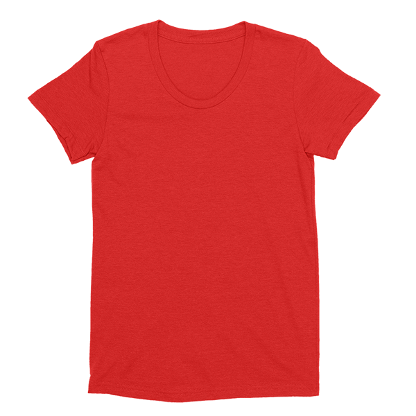 Womens Red Custom T-Shirt