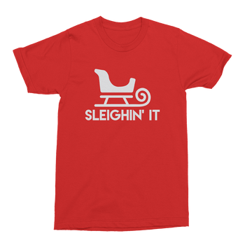 Sleighin' It Mens Crew The T-Shirt Deli, Co. S