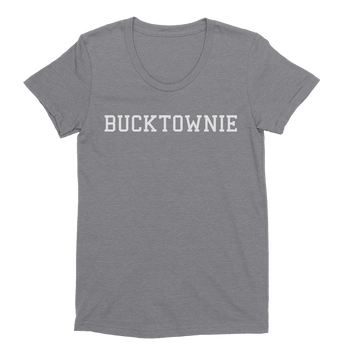 Womens Bucktownie Womens Scoop Neck The T-Shirt Deli, Co. EXTRA LARGE