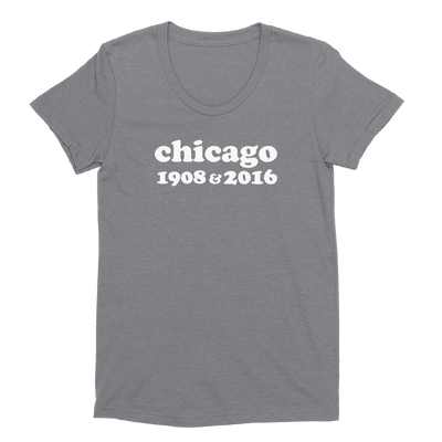 Womens Chicago 1908 & 2016 Womens Scoop Neck The T-Shirt Deli, Co. EXTRA LARGE