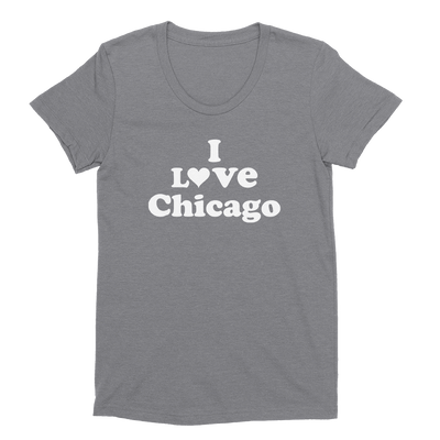 Womens I Love Chicago Womens Scoop Neck The T-Shirt Deli, Co. EXTRA LARGE