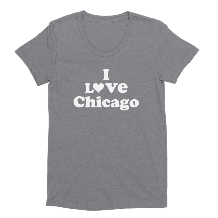 Womens I Love Chicago