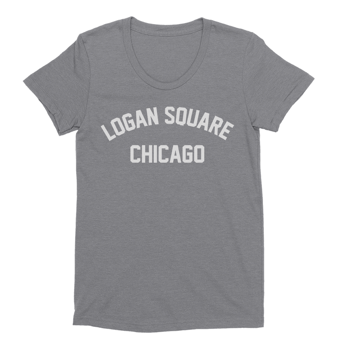 Womens Logan Square Womens Scoop Neck The T-Shirt Deli, Co. EXTRA LARGE