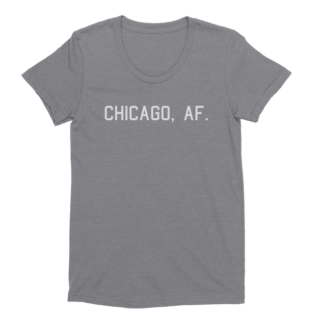 Womens Chicago, AF. Womens Scoop Neck The T-Shirt Deli, Co. EXTRA LARGE