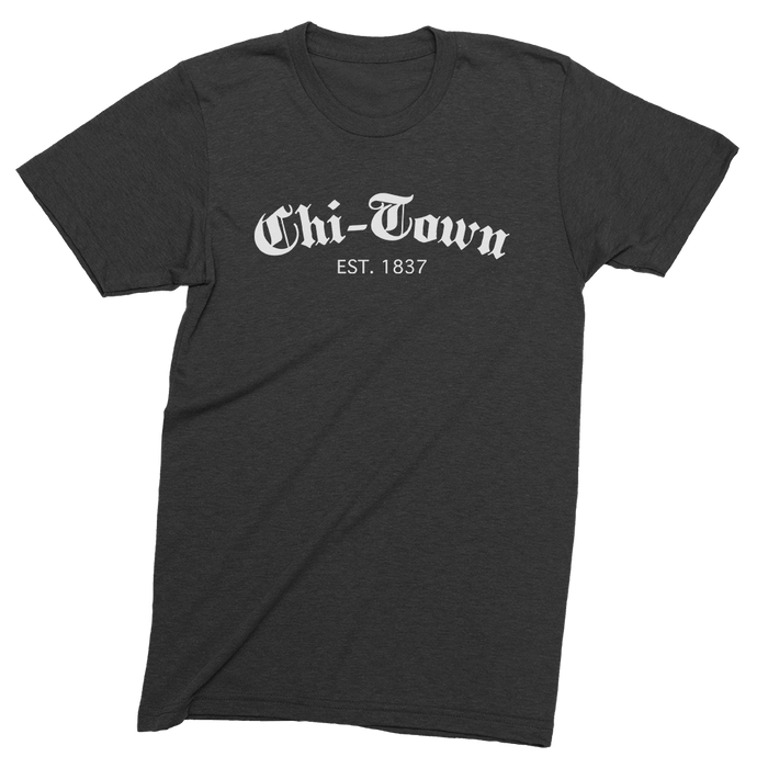 Mens/Unisex Chi-Town Est. 1837 Mens Crew The T-Shirt Deli, Co. LARGE