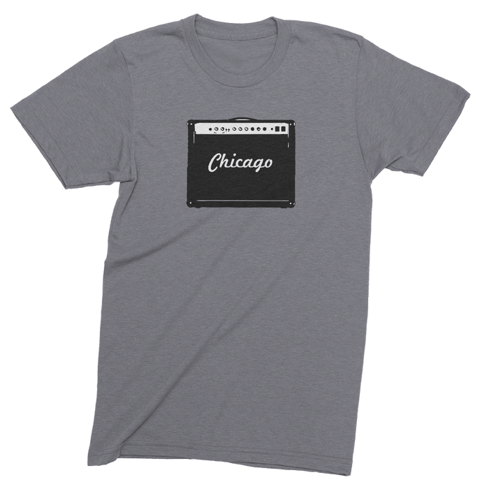 Mens/Unisex Chicago Amp Mens Crew The T-Shirt Deli, Co. LARGE
