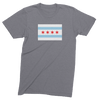 Mens/Unisex Chicago Flag Mens Crew The T-Shirt Deli, Co. LARGE