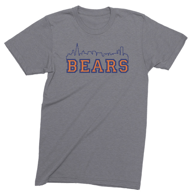 Mens/Unisex Bears Skyline Mens Crew The T-Shirt Deli, Co. LARGE